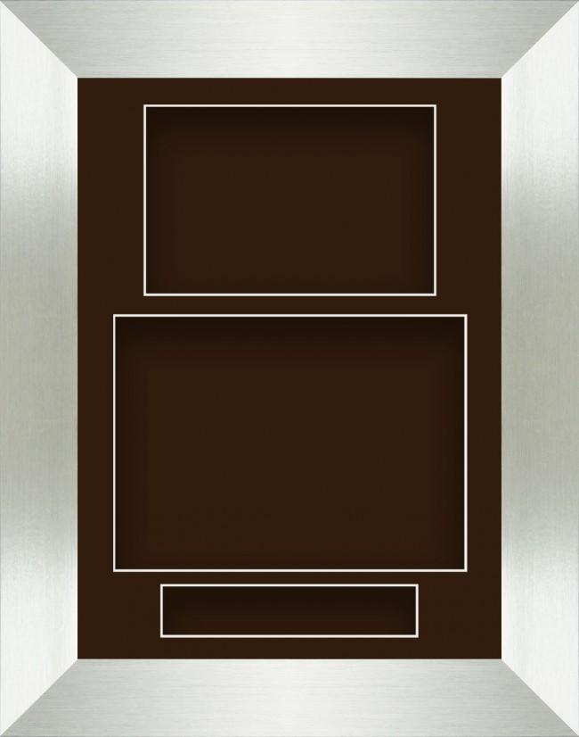 11.5x8.5 Silver Deep Box Display Frame Brown Portrait