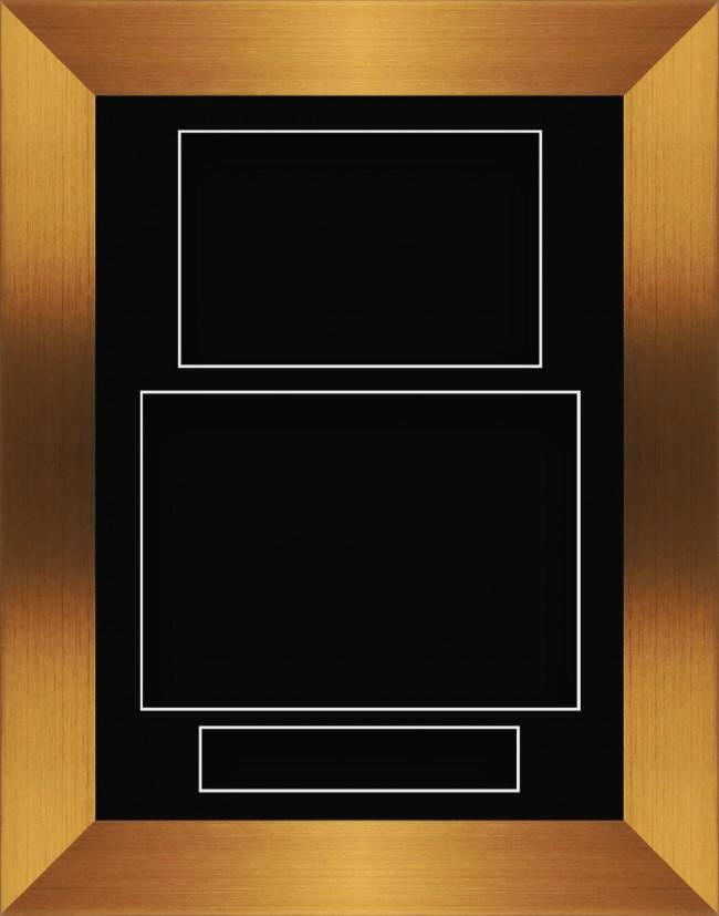 11.5x8.5 Bronze Deep Box Display Frame Black Portrait