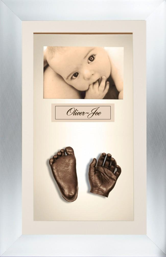 Large or Twins Baby Casting Kit / Brushed Chrome Frame / Bronze Casts