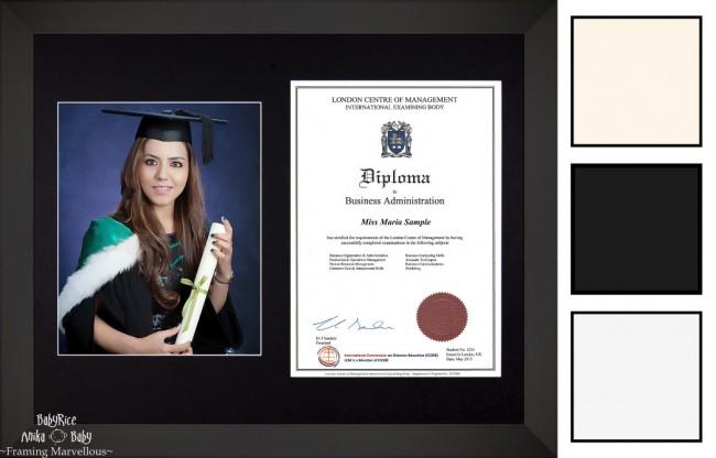 Large Black Wooden Frame A4 10x8 Photo Picture Certificate Graduation Diploma Wedding