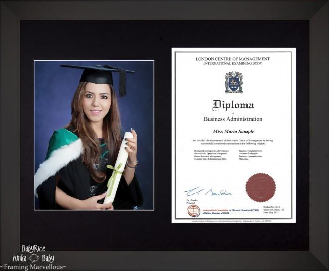 Large Black Wooden Frame A4 10x8 Photo Picture Certificate Graduation Diploma Wedding-Black