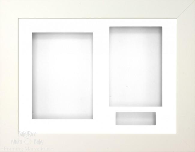 White 3D Display Box Frame White