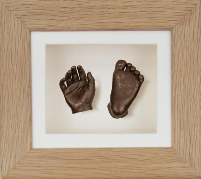 Baby Casting Kit Solid Oak Frame Cream Bronze paint