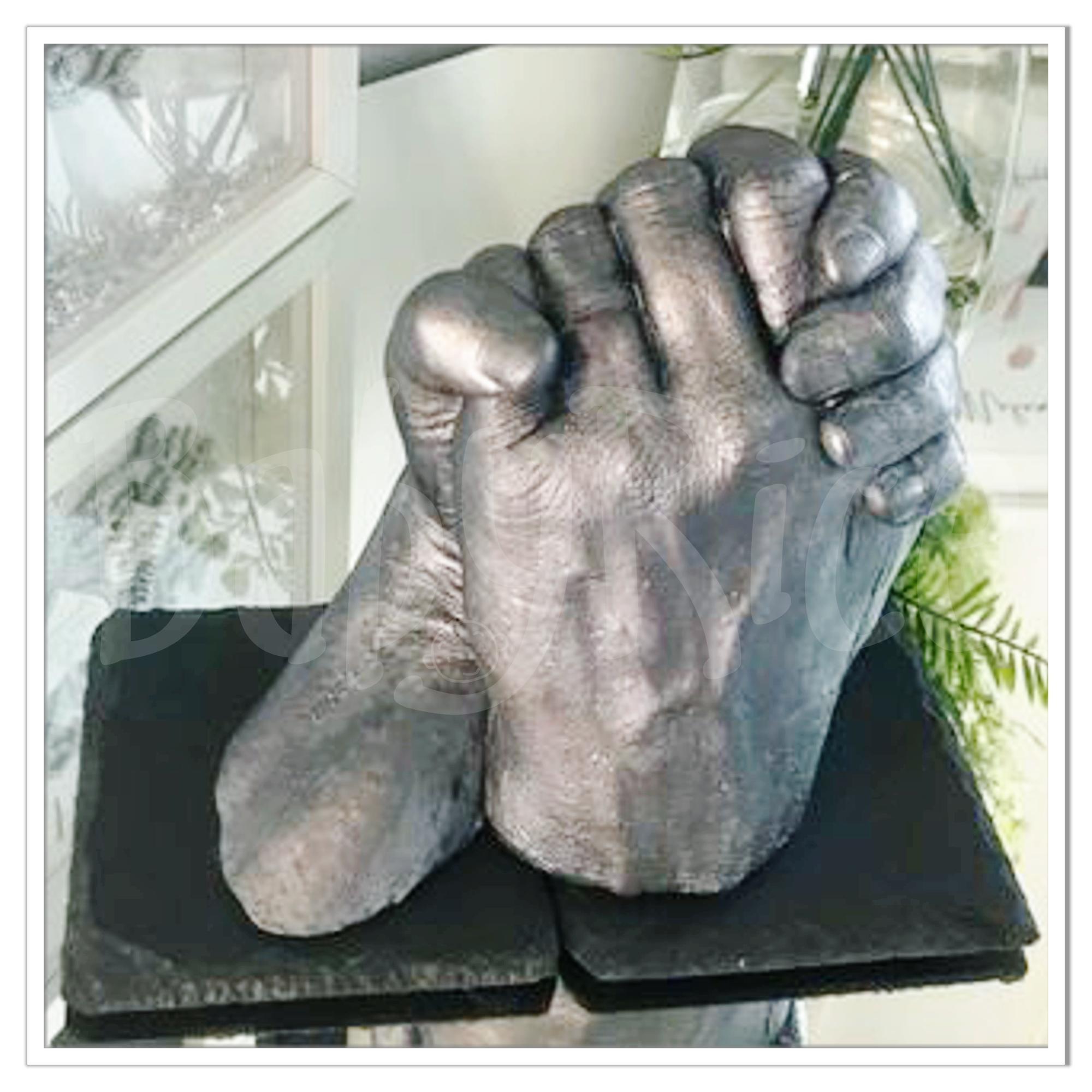 Holding Hands Forever 3D Cast Pewter