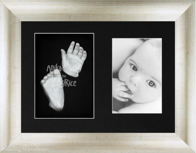 Baby Casting Kit, Antique Silver effect Frame, Silver paint