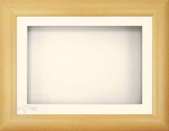 "11.5x8.5"" Beech Effect 3D Display Frame 1 Hole Cream"