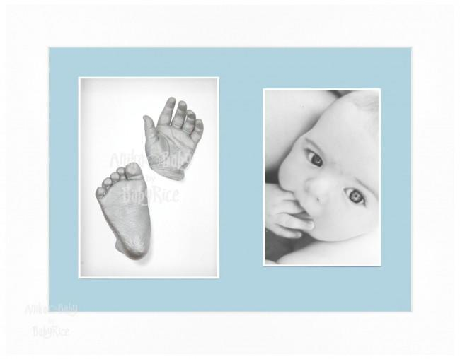 Baby Casting Kit / White Frame / Blue mount / Silver paint