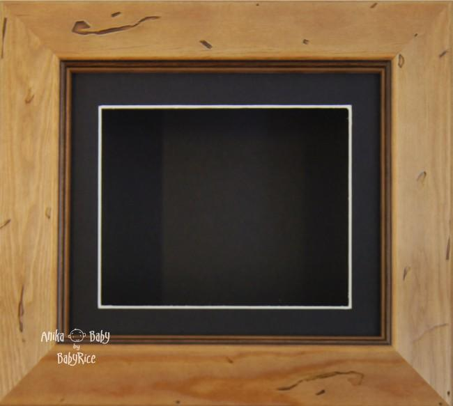 Rustic effect Small Display Frame / Black mount & backing card