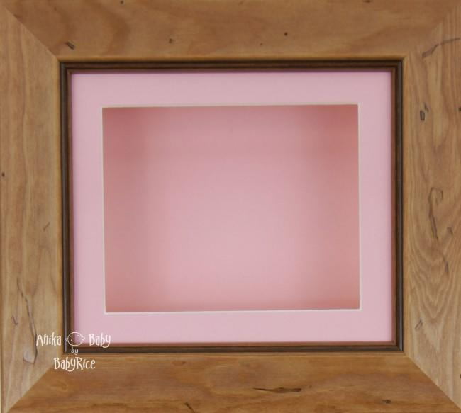 Rustic effect Small Display Frame / Pink mount & backing card