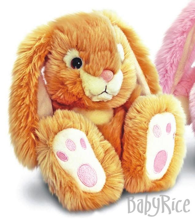 Honey Patchfoot Long Eared Cuddly Rabbit 18cm