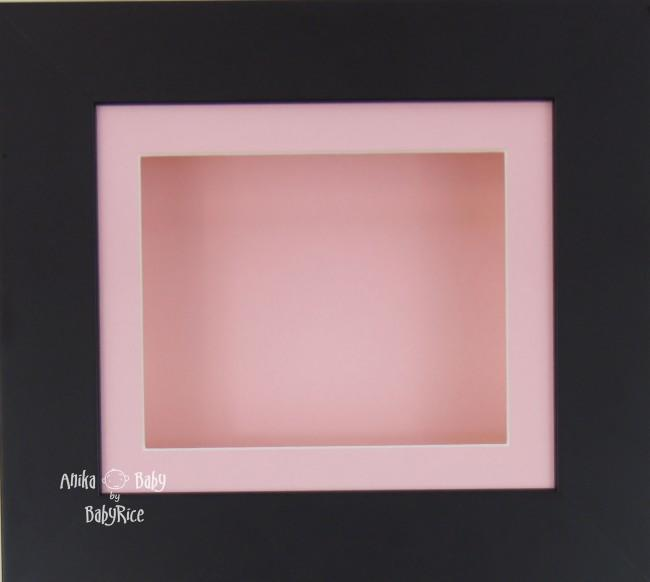 Black Small Display Frame / Pink mount & backing card
