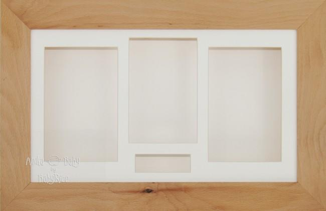 Large Real Beech Wooden 3D Shadow Box Display Frame / Cream