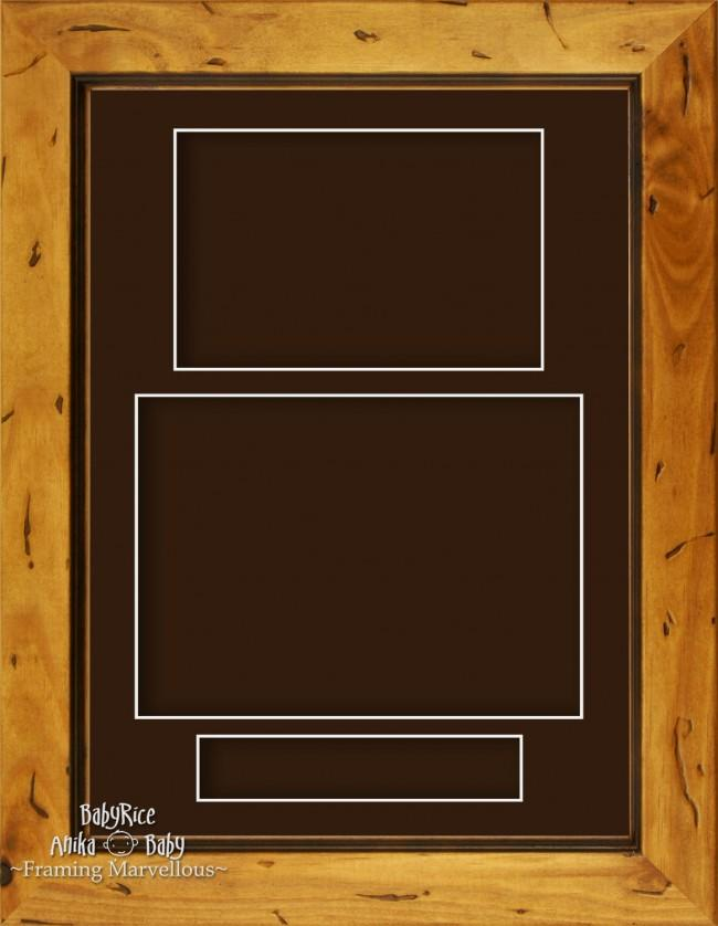 "11.5x8.5"" Rustic Pine Wooden 3D Display Box Frame Portrait Brown"