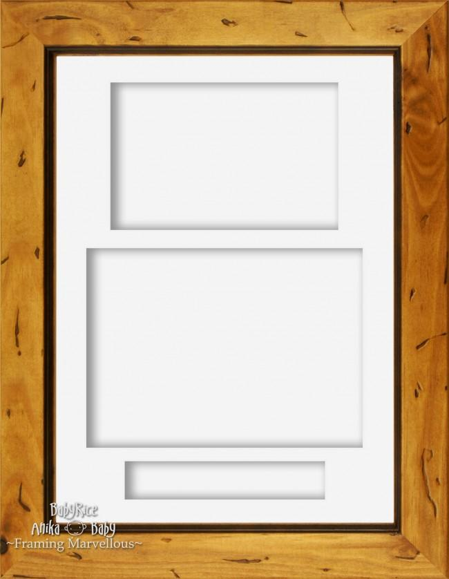 "11.5x8.5"" Rustic Pine Wood 3D Display Box Frame Portrait White"