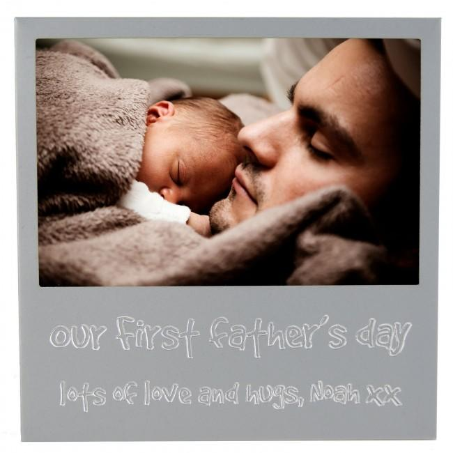 Personalised First Father's Day Picture Photo Frame
