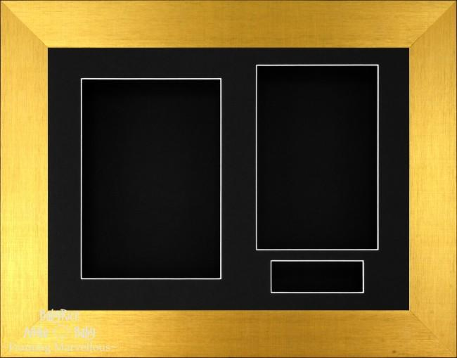 Brushed Gold 3D Display Box Frame Black