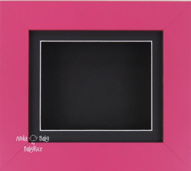 "6x5"" Pink frame / Black mount & Backing"
