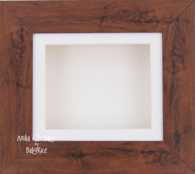 "6x5"" Mahogany display frame / White mount & Backing"