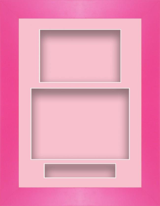 11.5x8.5 Pink Deep Box Display Frame Pink Portrait