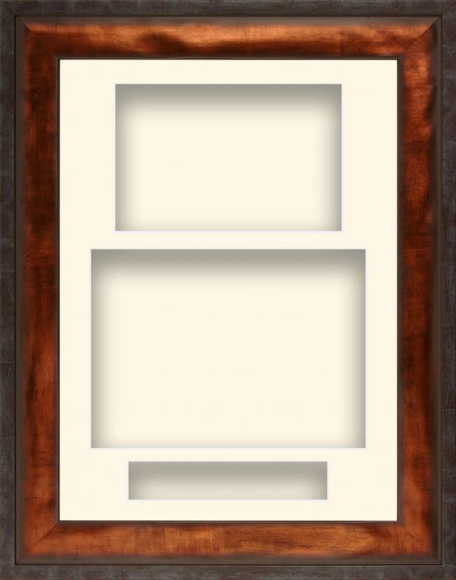 12x9 Urban Bronze Deep Display Frame Cream Portrait