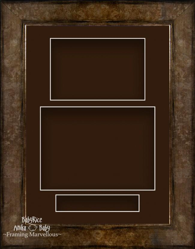 "11.5x8.5"" Bronze Brown 3D Deep Box Frame Brown Display Portrait"