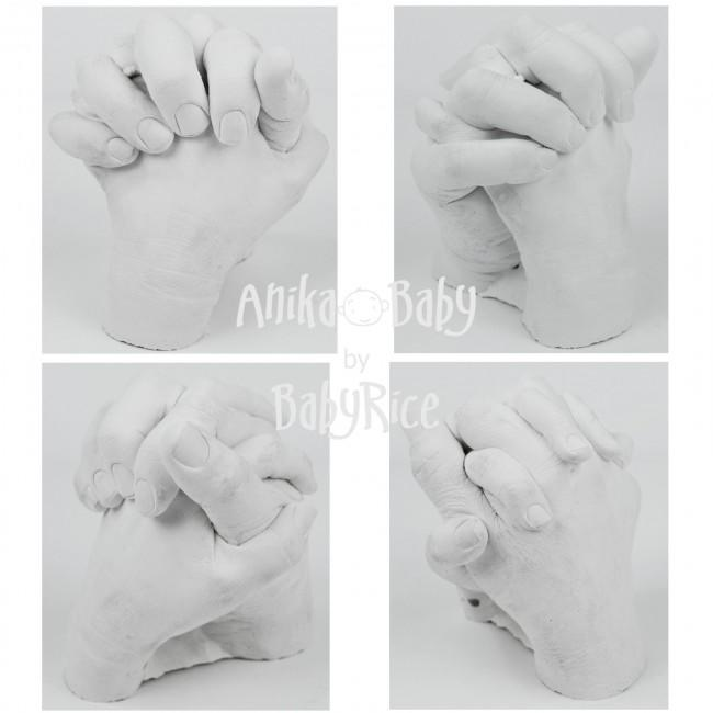 Raw Plaster Hand Casts
