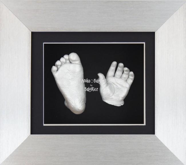 "Baby Casting Kit 6x5"" Silver Frame Black mt Silver paint"