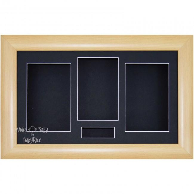 "15x9"" Mahogany/Gold Trim 3D Shadow Box Display Frame / Black"