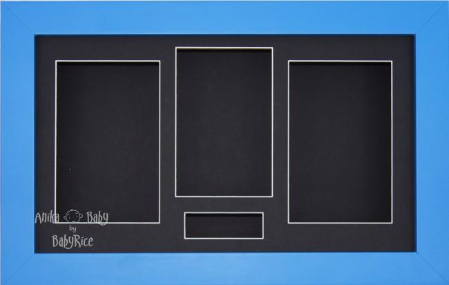 Large Blue 3D Box Display Frame / Black
