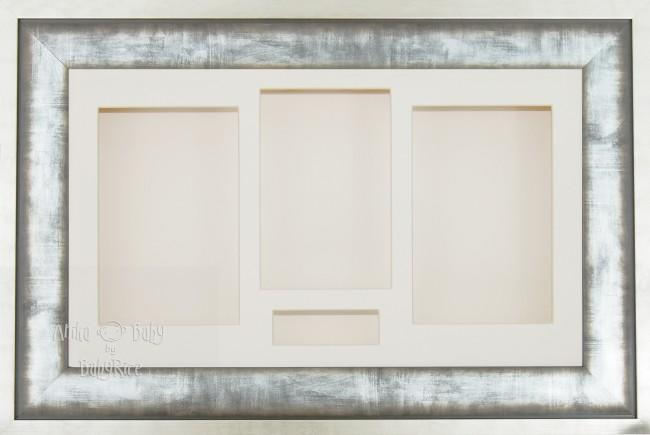 Large Urban Metal 3D Shadow Box Display Frame / Cream
