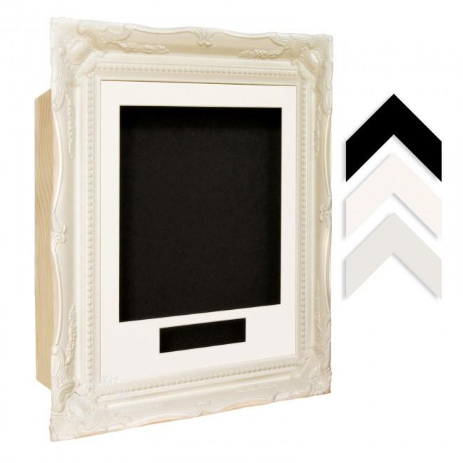 White Ornate Ornate Frame - Choose Size, Depth, Mount and Backing Card Colour