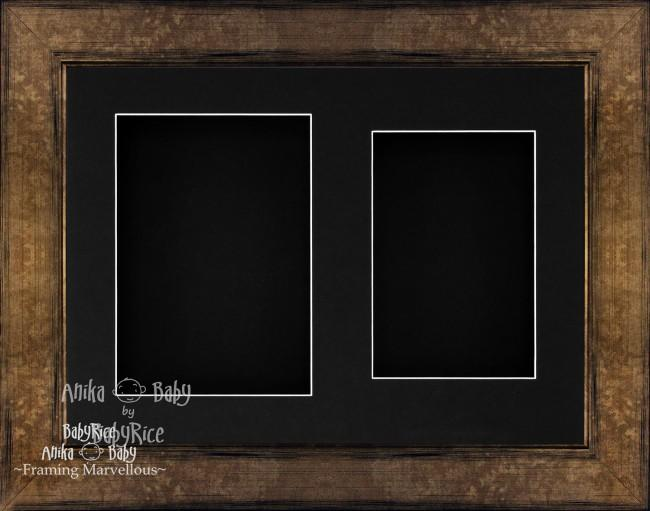 "11.5x8.5"" Bronze Brown 3D Deep Box Frame Black 2 Display"
