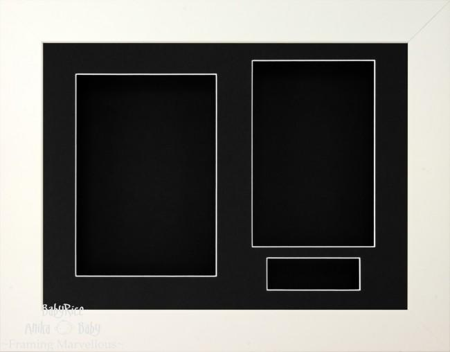 White 3D Display Box Frame Black