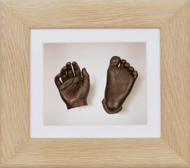 Baby Casting Kit Solid Oak Frame White Bronze paint