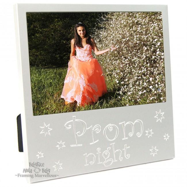 New Engraved Silver Prom Photo Frame Gift Ball Dance Celebration Memory Picture