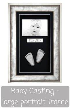 Baby Casting Kit with Large Portrait Box Display Frame