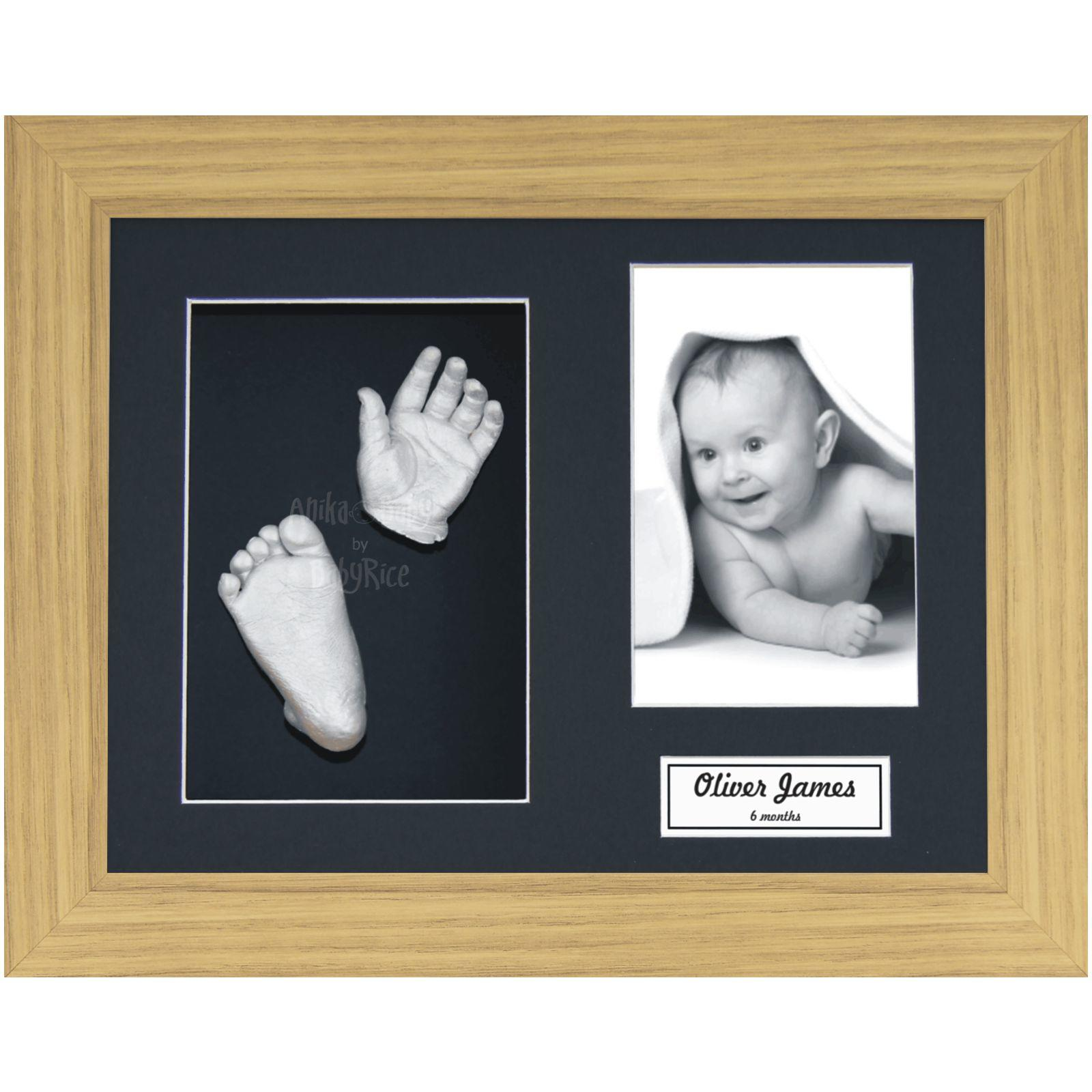3d Hands Feet Casting Kit with Oak effect frame
