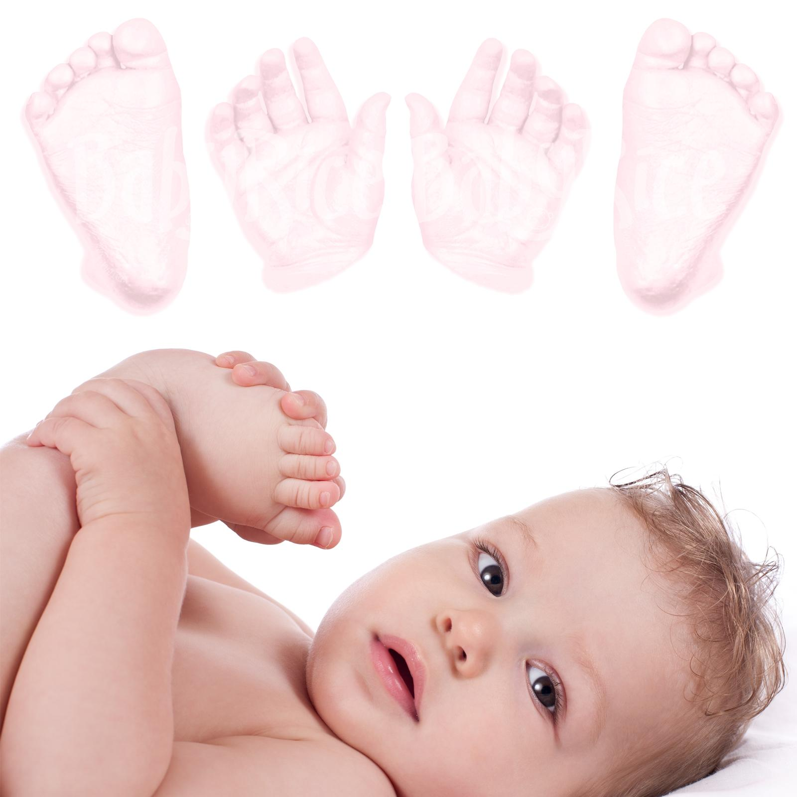 3d Baby Hand Foot Feet Hands Casting Kit PINK paint
