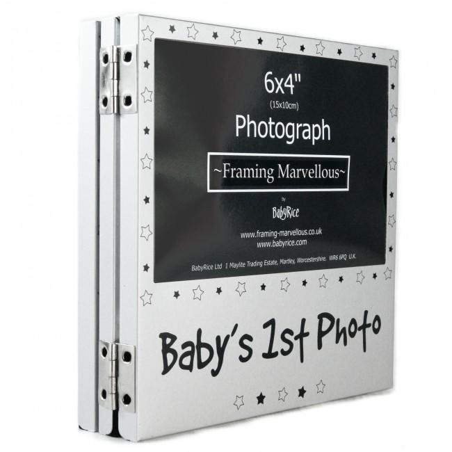 Triple Scan Folding Photo Frame, can fold to display Baby's First Photo