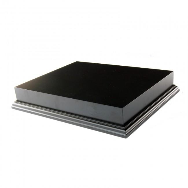 Black Wooden Plinth Display Base 10x8""