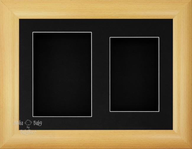 "11.5x8.5"" Beech Effect 3D Display Frame 2 Hole Black Mount"