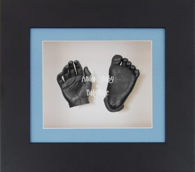 Baby Casting Kit Black Frame Blue White Display Pewter paint