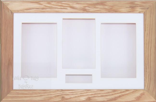 Large Solid Oak Wooden 3D Shadow Box Display Frame / White