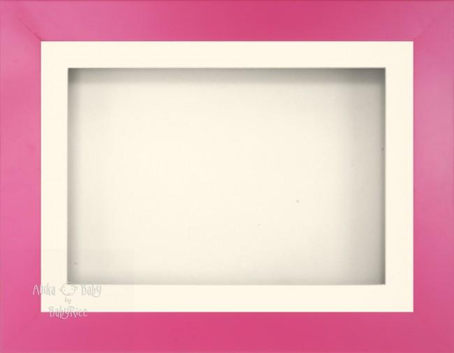 "11.5x8.5"" Pink Effect 3D Display Frame 1 Hole Cream Mount Cream Back"