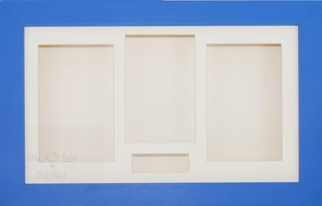 Large Blue 3D Shadow Box Display Frame / Cream