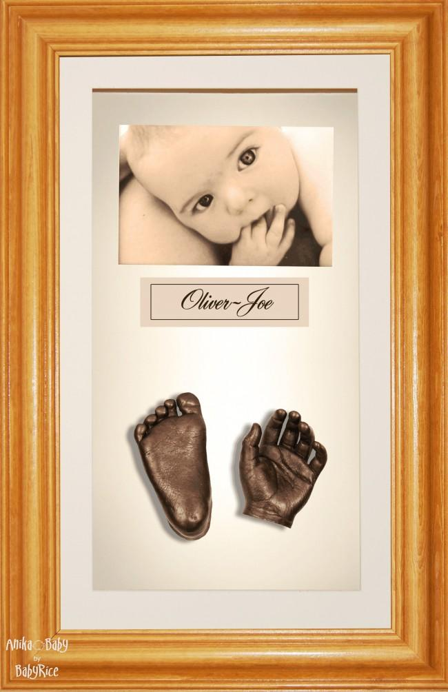 Large or Twins Baby Casting Kit / Honey Pine Frame / Bronze Casts