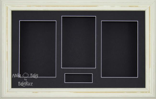 Large Shabby Chic Cream 3D Box Display Frame / Black