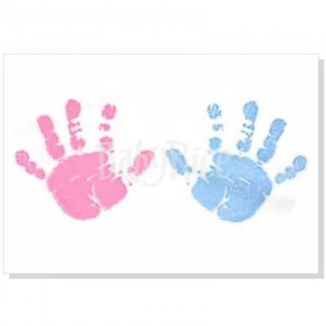 Canvas With Pink & Blue Baby Paint Wipe / Swab
