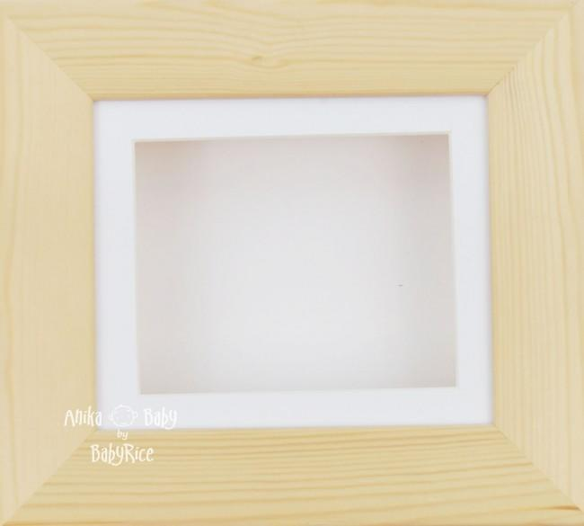Natural Pine Small Display Frame / White mount & backing card