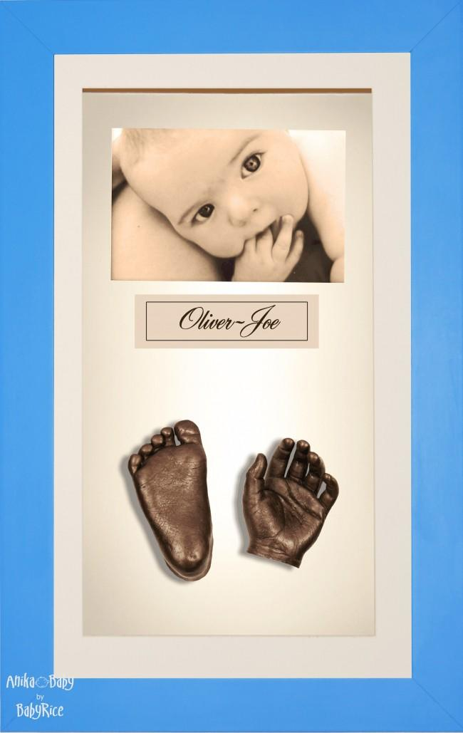 Large or Twins Baby Casting Kit / Blue Frame / Bronze Casts
